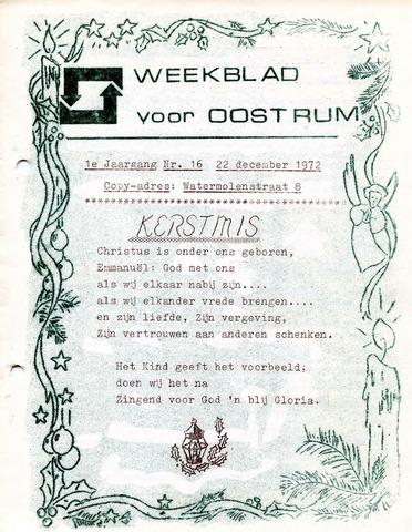Oostrum's Weekblad 1972-12-22