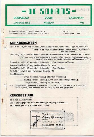Castenrays dorpsblad De Schans 1986-11-07