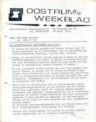 Oostrum's Weekblad 1973-09-28