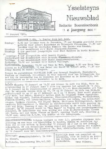 Ysselsteyns Nieuwsblad 1975-01-10