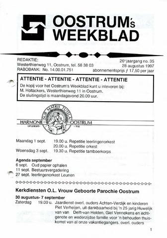 Oostrum's Weekblad 1997-08-28