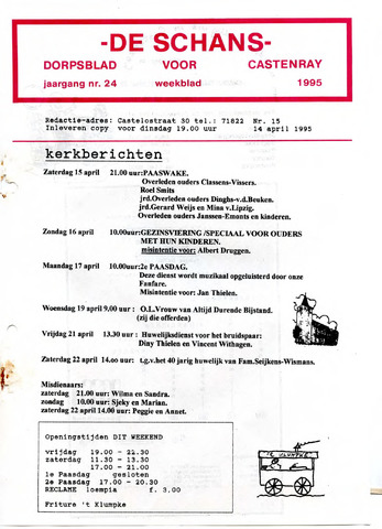 Castenrays dorpsblad De Schans 1995-04-14