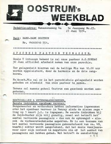 Oostrum's Weekblad 1974-06-21