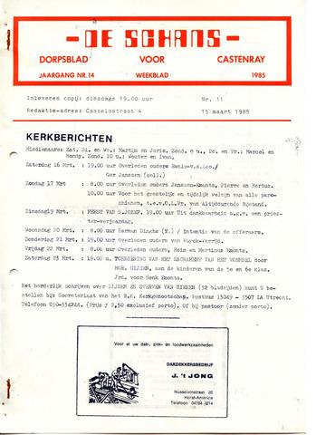 Castenrays dorpsblad De Schans 1985-03-15