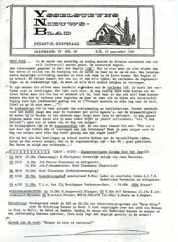 Ysselsteyns Nieuwsblad 1991-09-27