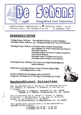 Castenrays dorpsblad De Schans 1998-09-17
