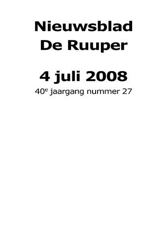 Dorpsblad Leunen-Veulen-Heide 2008-07-04