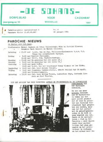 Castenrays dorpsblad De Schans 1981-01-30