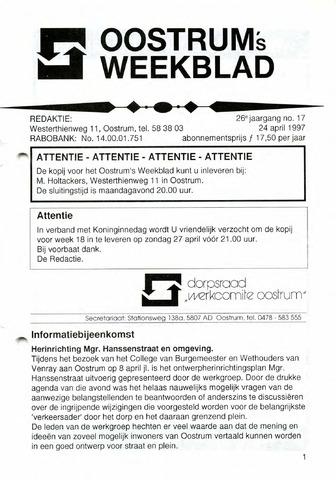Oostrum's Weekblad 1997-04-24