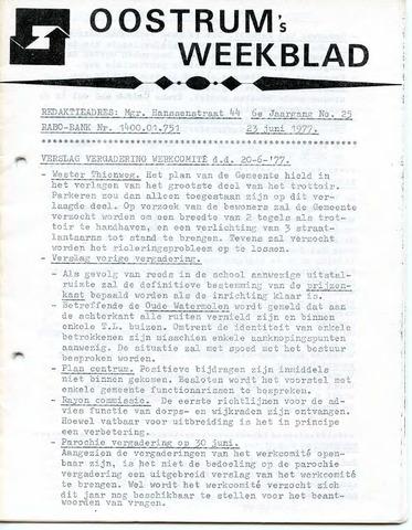 Oostrum's Weekblad 1977-06-23