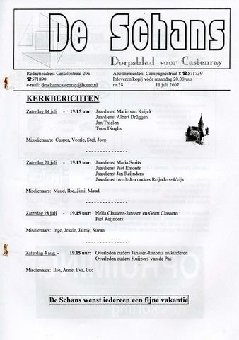 Castenrays dorpsblad De Schans 2007-07-11