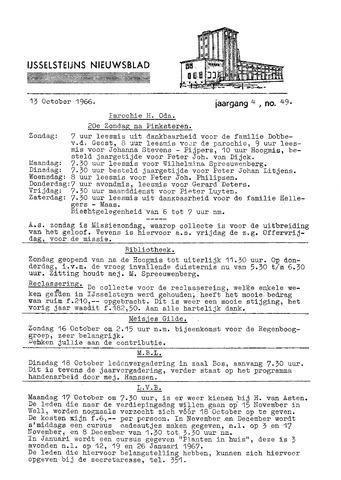 Ysselsteyns Nieuwsblad 1966-10-13