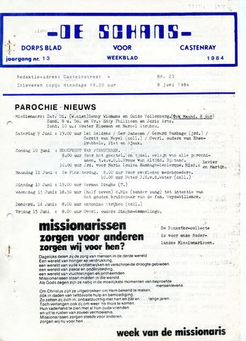Castenrays dorpsblad De Schans 1984-06-08