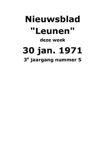 Dorpsblad Leunen-Veulen-Heide 1971-01-30