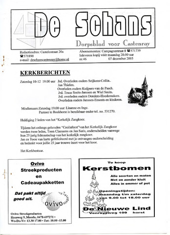 Castenrays dorpsblad De Schans 2005-12-07