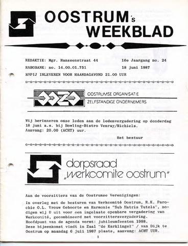Oostrum's Weekblad 1987-06-18