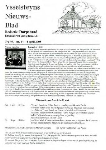 Ysselsteyns Nieuwsblad 2008-04-04
