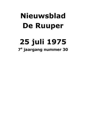 Dorpsblad Leunen-Veulen-Heide 1975-07-25