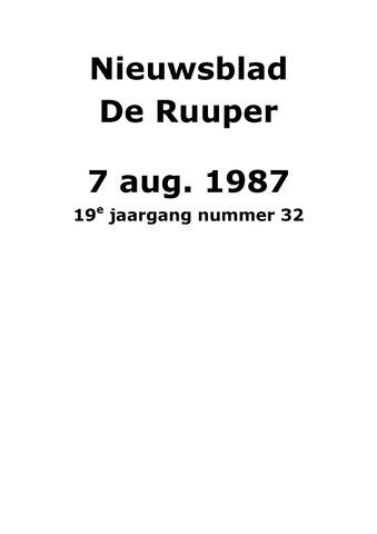 Dorpsblad Leunen-Veulen-Heide 1987-08-07