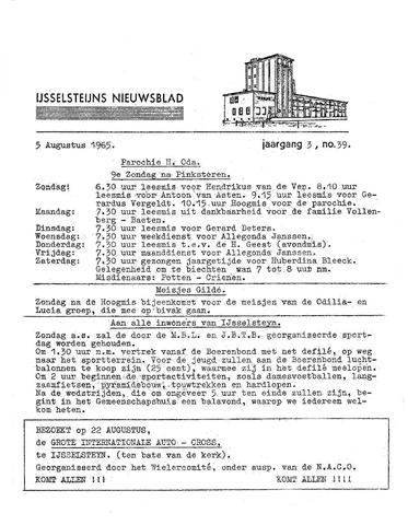 Ysselsteyns Nieuwsblad 1965-08-05