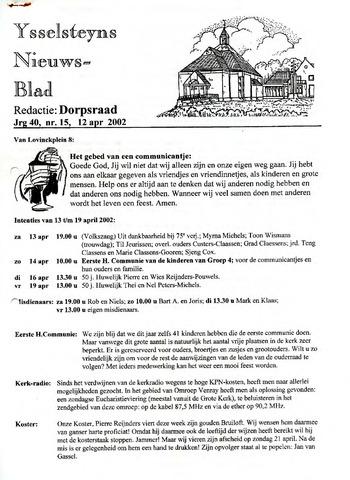 Ysselsteyns Nieuwsblad 2002-04-12