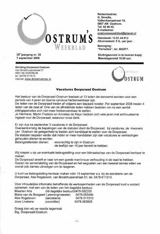 Oostrum's Weekblad 2006-09-07