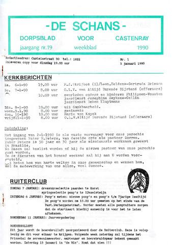 Castenrays dorpsblad De Schans 1990-01-05