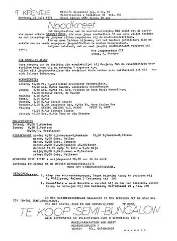 Oirlo's dorpsblad 't Krèntje 1975-07-24