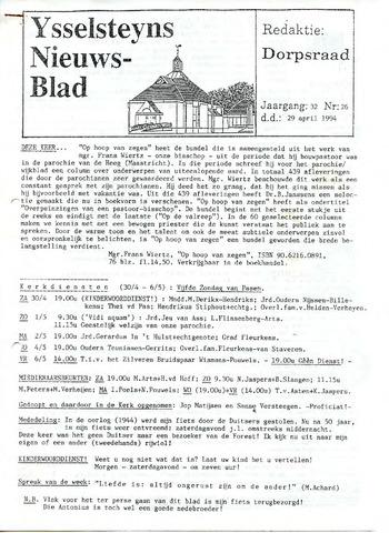 Ysselsteyns Nieuwsblad 1994-04-29