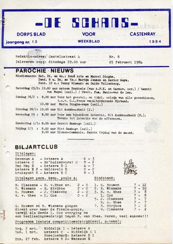 Castenrays dorpsblad De Schans 1984-02-25