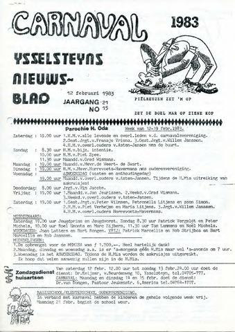 Ysselsteyns Nieuwsblad 1983-02-12