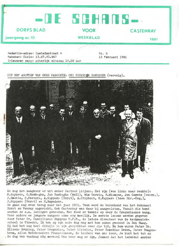 Castenrays dorpsblad De Schans 1981-02-13