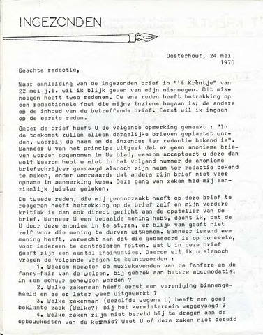 Oirlo's dorpsblad 't Krèntje 1970-05-29