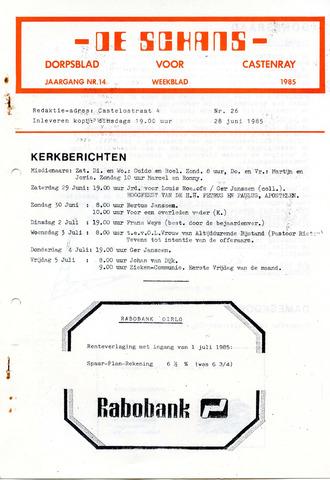 Castenrays dorpsblad De Schans 1985-06-28