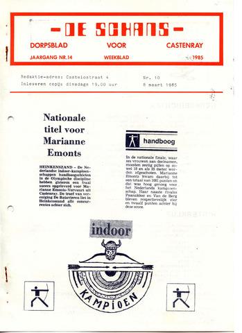 Castenrays dorpsblad De Schans 1985-03-08