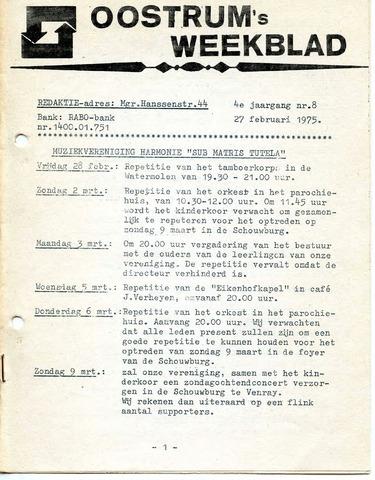 Oostrum's Weekblad 1975-02-27