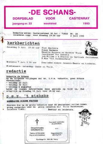 Castenrays dorpsblad De Schans 1993-07-02