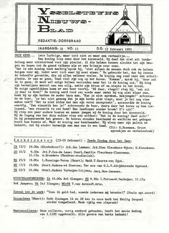 Ysselsteyns Nieuwsblad 1993-02-12