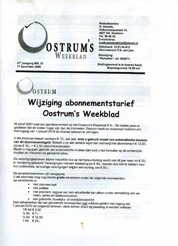 Oostrum's Weekblad 2009-12-17