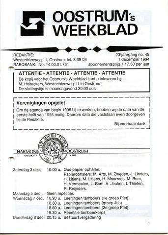 Oostrum's Weekblad 1994-12-01