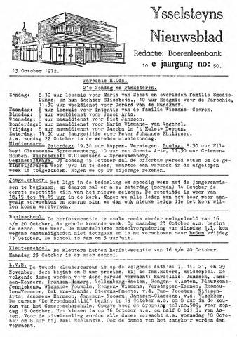 Ysselsteyns Nieuwsblad 1972-10-13