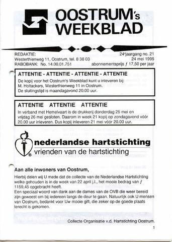 Oostrum's Weekblad 1995-05-24