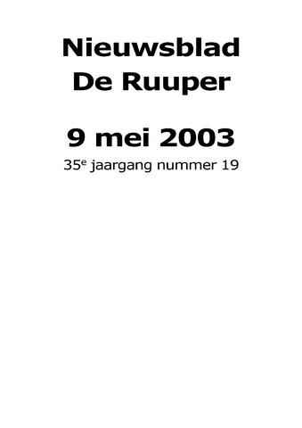 Dorpsblad Leunen-Veulen-Heide 2003-05-09