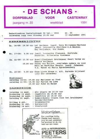 Castenrays dorpsblad De Schans 1991-09-13