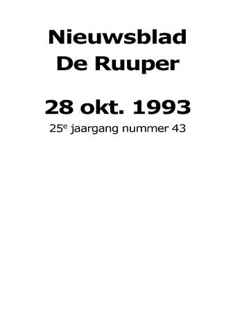 Dorpsblad Leunen-Veulen-Heide 1993-10-28