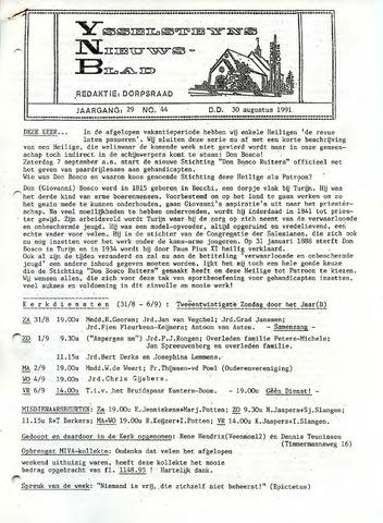 Ysselsteyns Nieuwsblad 1991-08-30