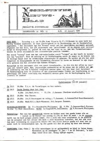 Ysselsteyns Nieuwsblad 1988-01-22