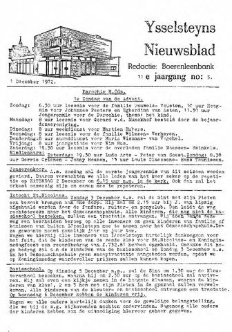 Ysselsteyns Nieuwsblad 1972-12-01