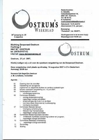Oostrum's Weekblad 2007-08-02