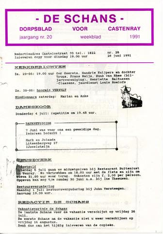 Castenrays dorpsblad De Schans 1991-06-28